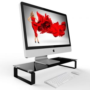 Eutuxia Tempered Glass Classic Monitor Laptop Stand Sale