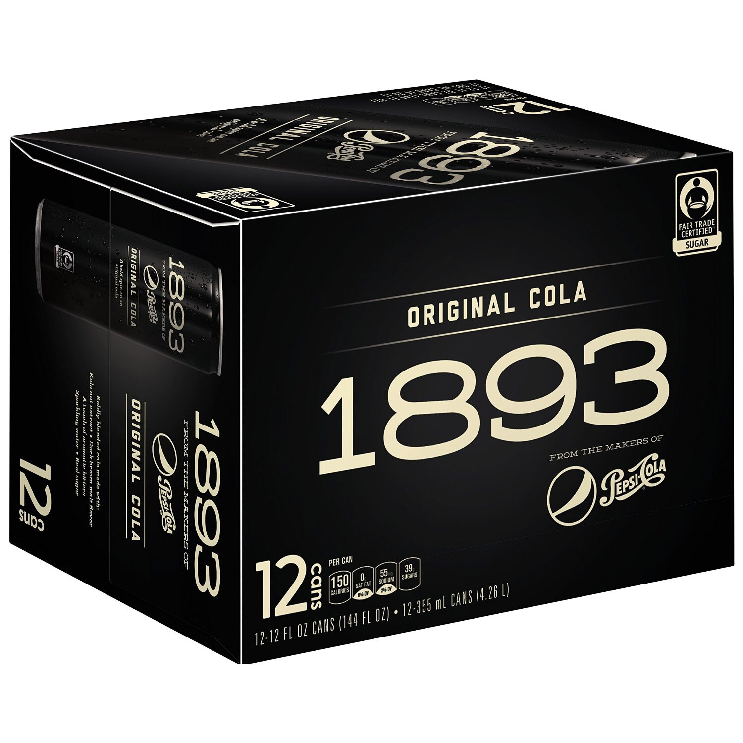 Pepsi Cola 1893 Original Cola 12 Pack Sale $13.50  Free Shipping from Amazon
