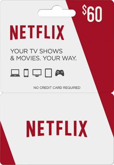 $60 Netflix Card with Free $10 Best Buy Card $60.00  Free Shipping from Best Buy