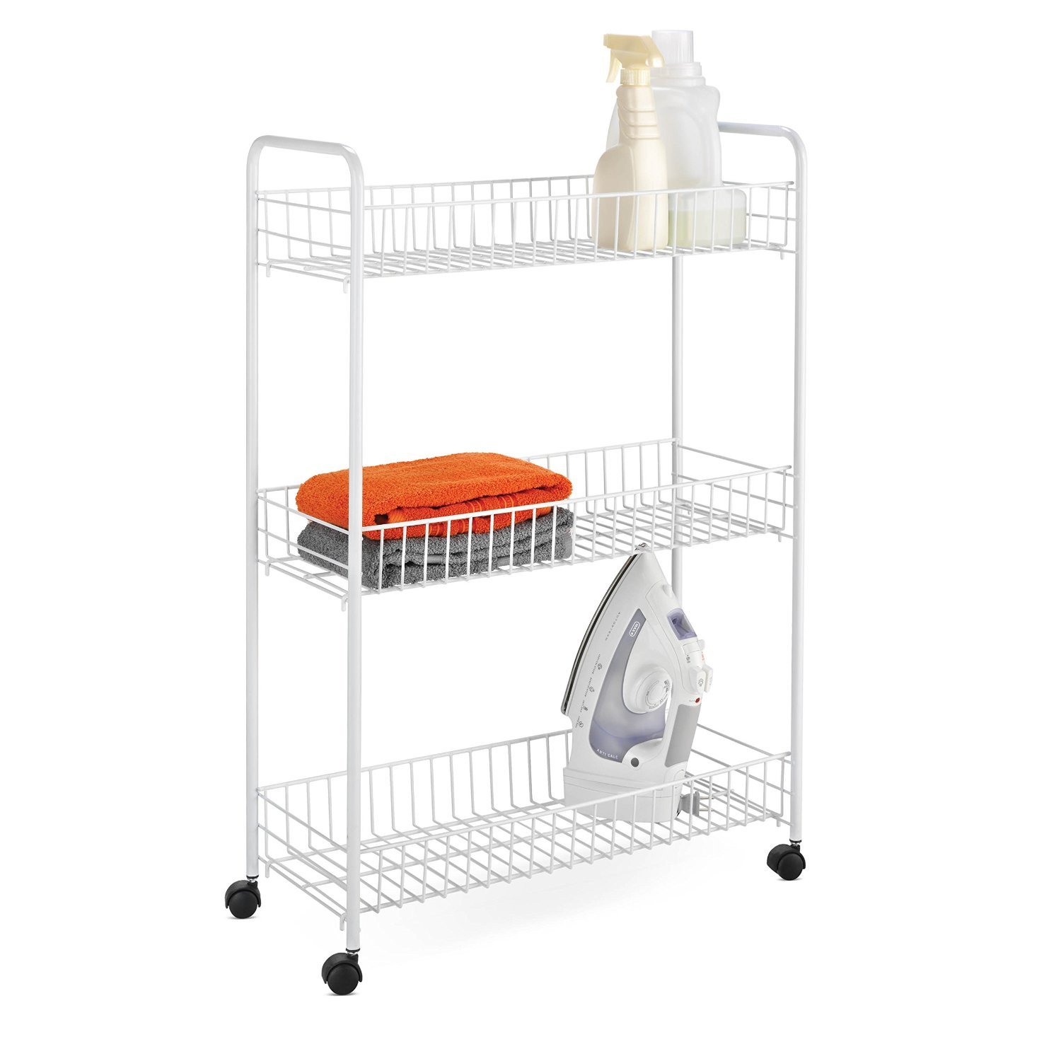 Honey Can Do 3-Tier Laundry Cart Sale $10.99  Free Shipping from Amazon