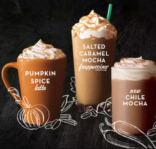 picture of Starbucks $3 Fall Hot or Blended Beverage