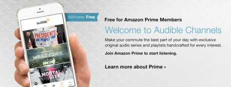 picture of Free Audible Channels for Prime Members