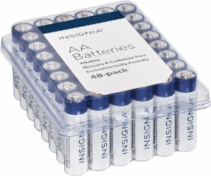 Insignia AA or AAA 48 pack Battery Sale $7.99  Free Shipping from Best Buy