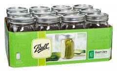 Jarden Wide Mouth Ball Jar, 32-Ounce, Case of 12 Sale