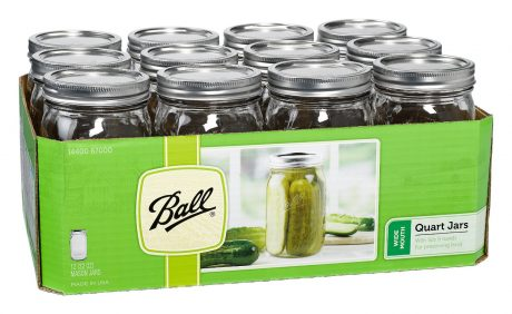 picture of Jarden Wide Mouth Ball Jar, 32-Ounce, Case of 12 Sale