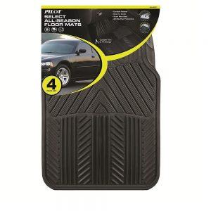 Pilot Automotive All Season 4 pc. Rubber Floor Mat Set Sale