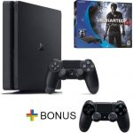 Playstation 4 Slim – PS4 500GB Console – Uncharted 4 Bundle – Free Extra Controller