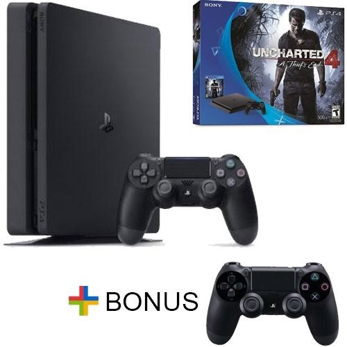 New Playstation 4 Slim - PS4 500GB Console - Uncharted 4 Bundle - Free Extra Controller $299.99  Free Shipping from eBay