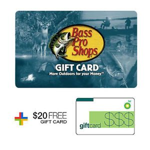 $100 Bass Pro Shops Gift Card with Free $20 Gas Card