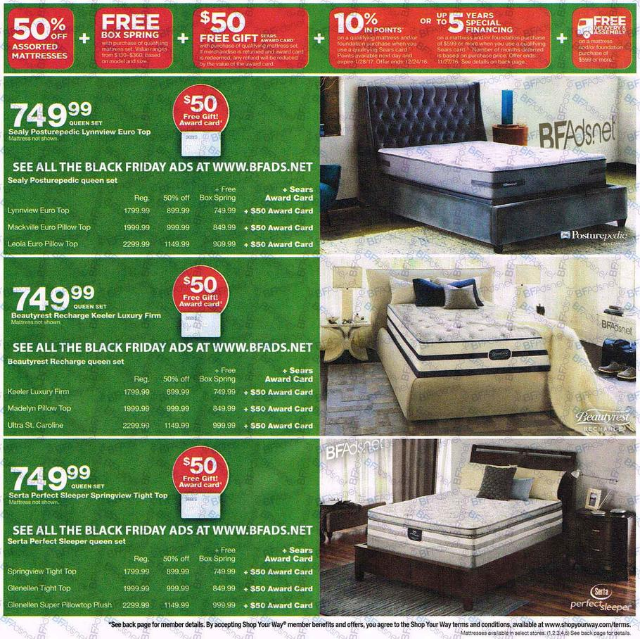 Sears Mattress Black Friday 2016 Ad Scan Buyvia