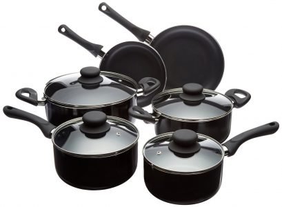 picture of AmazonBasics 10-Piece Nonstick Cookware Set