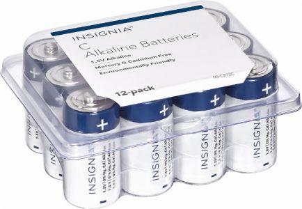 Dynex – C, D, or 9V Batteries (12-Pack) Sale
