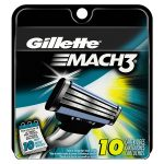 Gillette Mach3 Men's Razor Blade Refills 10 Count Sale