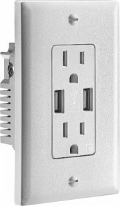 picture of Insignia- 3.6A USB Charger Wall Outlet Sale