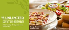 Olive Garden $5.99 Unlimited Lunch Combo