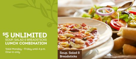picture of Olive Garden $5.99 Unlimited Lunch Combo