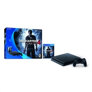New Playstation 4 Slim – PS4 500GB Console – Uncharted 4 Bundle – Free $50 Dell GC Sale