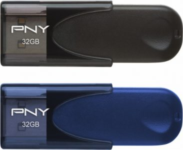 picture of PNY Compact Attaché 32GB USB 2.0 Flash Drive 2 Pack Sale