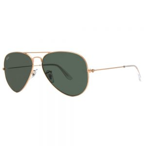 picture of Ray Ban RB 3025 Unisex Gold/Green Aviator Sunglasses Sale