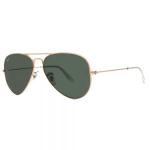 Ray Ban RB 3025 Unisex Gold/Green Aviator Sunglasses Sale
