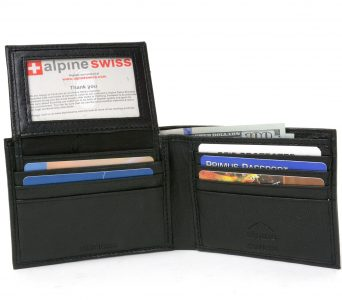picture of RFID Blocking Mens Leather Wallet Sale