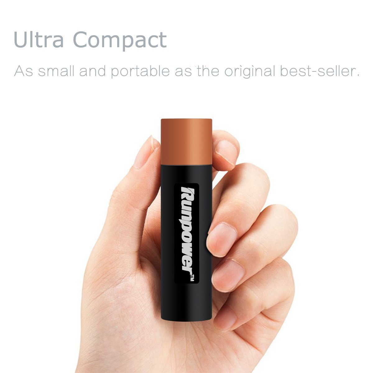 Runpower 2600mAh Ultra Slim Portable Power Bank Charger $4.29  Free Shipping from Amazon
