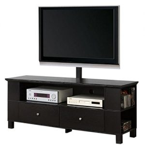 Walker Edison 58″ Black Wood Storage TV Cabinet with Mount