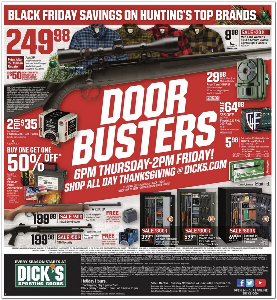 Dicks sporting goods black friday deals sex