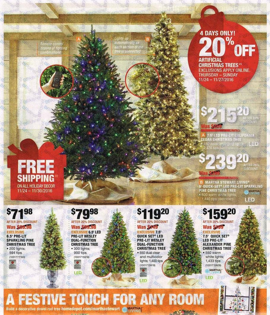 home depot black friday 2016 ad 7 - Christmas Tree Black Friday