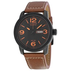 Citizen Eco-Drive Men's Brown Leather Watch
