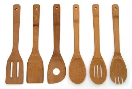 Lipper Set of 6 Bamboo Kitchen Tools