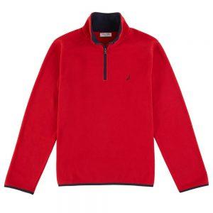 picture of Nautica Mens Classic Fit Quarter Zip Fleece Jacket Sale