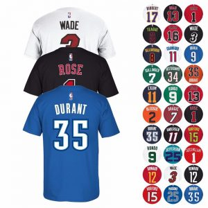 NBA Name & Number Player Jersey T-Shirt Collection by Adidas