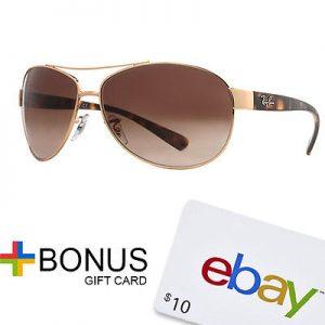 Ray Ban RB 3386 Unisex Aviator Sunglasses + $10 eBay Gift Card Sale