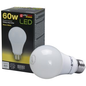 picture of Utilitech Pro 60W Equivalent Dimmable Warm White A19 LED Light Bulb Sale