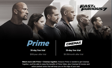 picture of Free 30 day Cinemax Streaming Trial