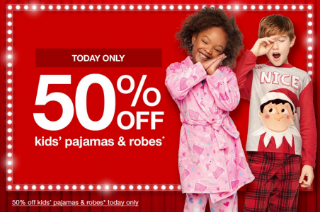 picture of Target - 50% off Men's and Kids Pajamas & Robes