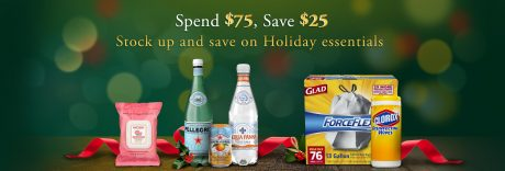 picture of Amazon $25 off $75 on Holiday Essentials - Grocery, Household,...