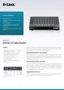 picture of D-Link DCM-301 Cable Modem Sale