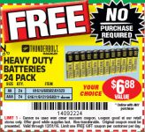 Free 24 Pack AA/AAA Batteries