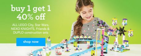 picture of Toys R Us Buy 1 Get 1 40% off Lego City, Duplo, Nerf, Disney princess..