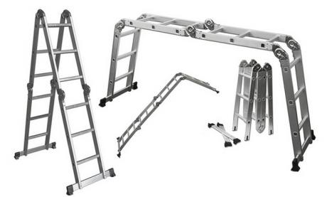 picture of 12' Lightweight Multi-Purpose Aluminum Folding Ladder Sale