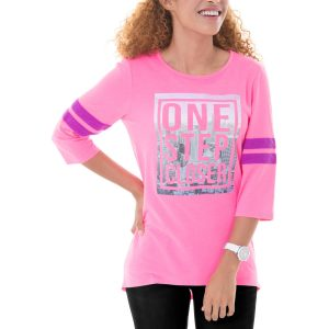 picture of Danskin Now Women's Fitspiration Graphic Football Tee Sale