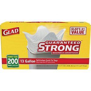 picture of Glad 200-Count 13-Gallon Plastic Indoor Trash Bag Sale