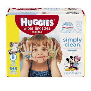 picture of HUGGIES Simply Clean Baby Wipes 72 Count - 9 Pack