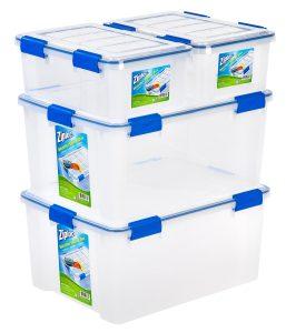 IRIS 16 And 60 Quart Ziploc WeatherShield Storage Box Stacking Set, 4 Pack  $40.21 + Free Shipping