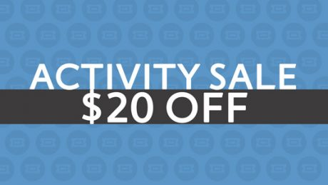 picture of Save $20 on your next Activity