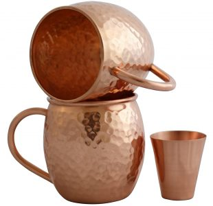 picture of Hammered Copper Moscow Mule Mug set of 2