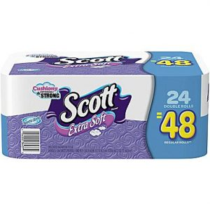 picture of Scott 1-Ply Extra Soft Bath Tissue 24pk Sale