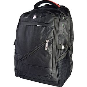 picture of Swiss Elite Black Polyester Mobile Laptop Backpack Sale
